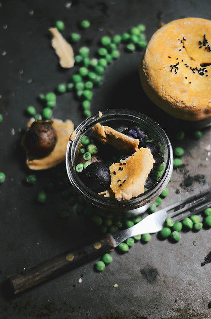 mini samosa pot pies with tricolored marble potatoes and peas | A Brown Table