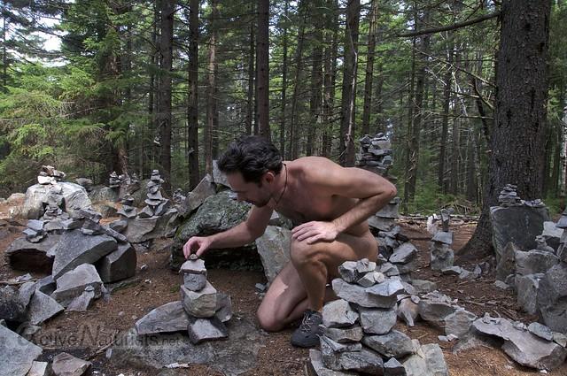naturist 0010 Appalachian trail, Vermont, USA