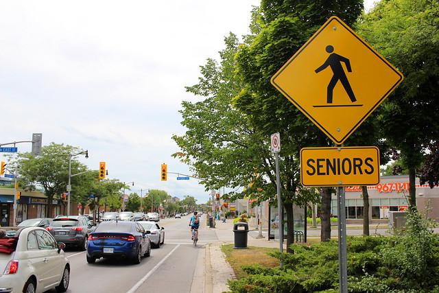 Waterfronttrail Road Sign Seniors