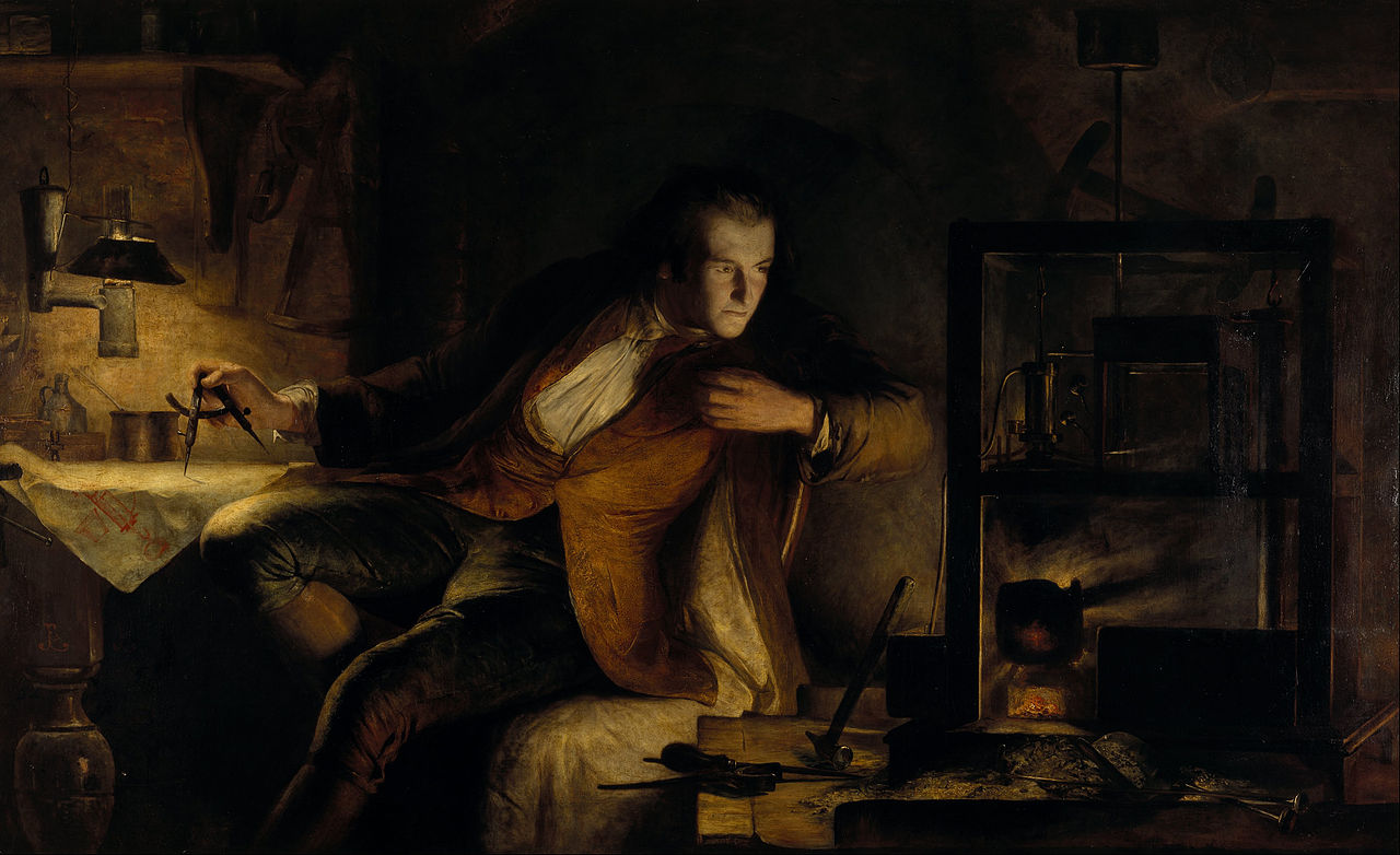 James Watt and the Steam Engine by James Eckford Lauder. Scottish National Gallery