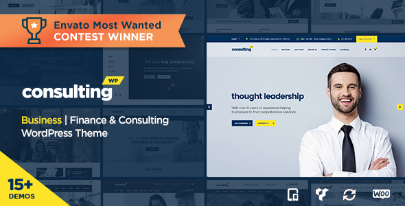 Consulting v3.6 - Business, Finance WordPress Theme