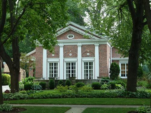 house architecture residence redbricks georgianarchitecture riverforestil