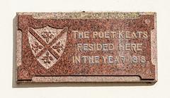 Photo of John Keats marble plaque