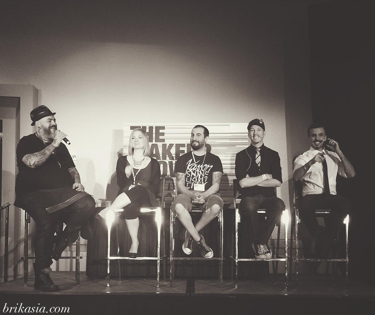 The Makeup Show Orlando 2014 Recap, Face Off TV show panel, Laura Tyler, James Vincent, Eric Garcia, Garcia FX, David O'Connell, DOC FX, Nix Herrera