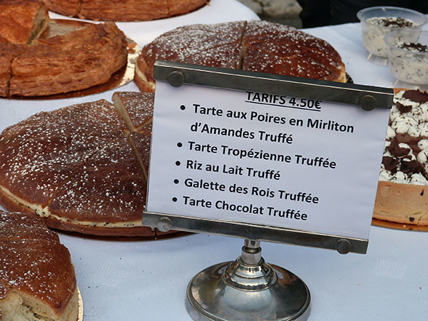 les desserts à la truffe
