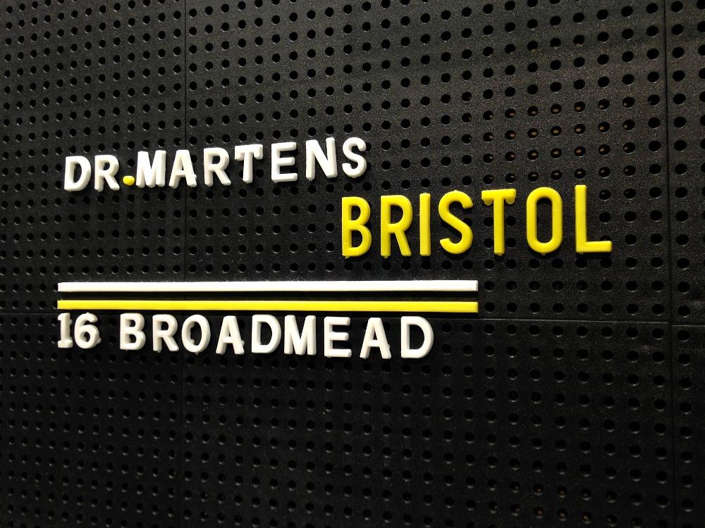 Dr Martens Broadmead Bristol sign