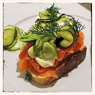 Norwegian smoked salmon starter IMG_3278-R