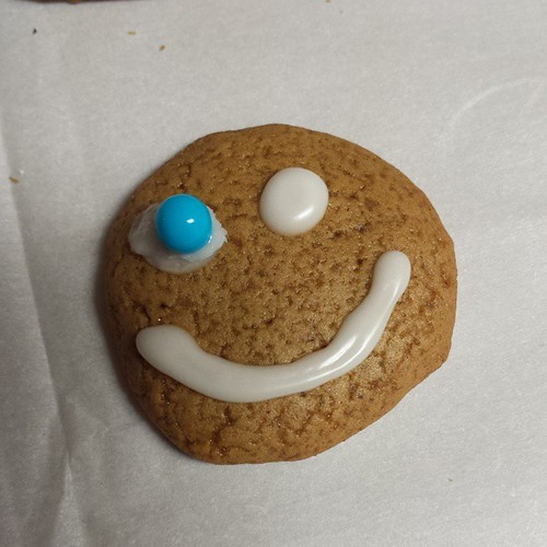 There was a little extra dough so we made Mad Eye Moody. #gingerbreadcookies