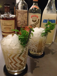 Mai Tai with Lost Spirits Polynesian-style rum, Clement VSOP rhum agricole, Pierre Ferrand dry curaçao, homemade orgeat, lime juice, simple