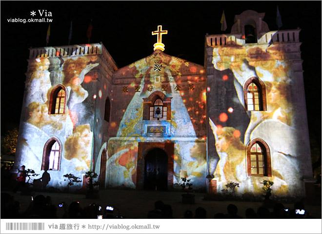 【萬金教堂】屏東萬金教堂聖誕季~3D光雕秀+耶誕地景藝術/全台最濃耶味小鎮!13