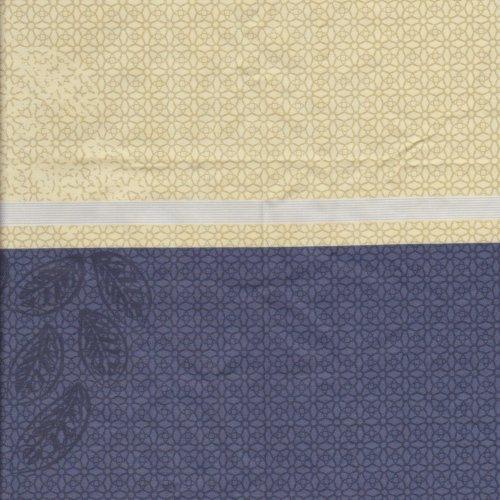 藍黃直紋 精梳棉床品床單布料 CA490289