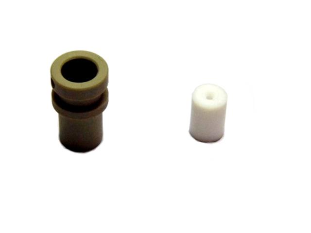 Insert the PTFE socket into PEEK isolator