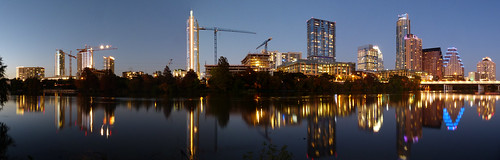 usa water america austin lumix downtown texas skyscrapers panoramic panasonic austintexas coloradoriver nightview bluehour bartonsprings zilkerpark riversidedr auditoriumshores downtownaustin fz200