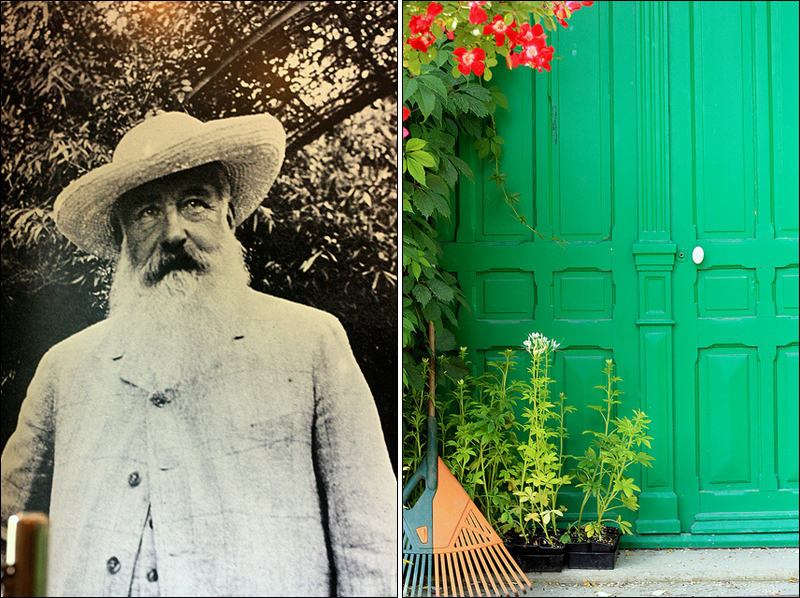 Claude Monet and the entrance to his maison