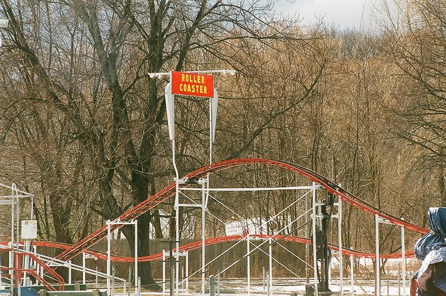 Hoffman's Playland Roller Coaster sign, January 2015