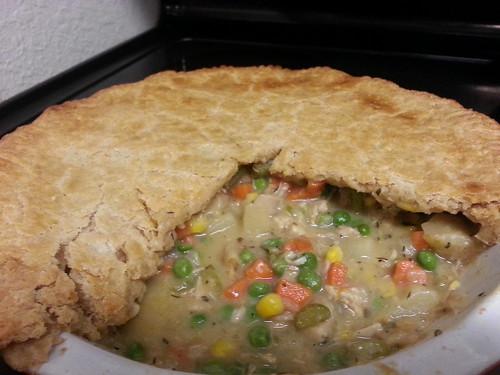 Chicken pot pie - cooked!