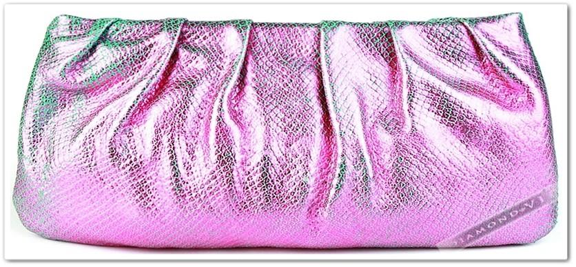 Bolsa De Couro Legitimo Arezzo : Bolsa arezzo clutch couro leg?timo prata preta marrom rosa