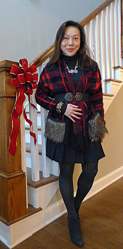 red plaid dressing
