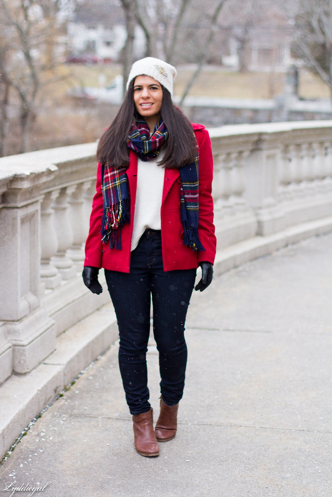 white sweater, red coat, plaid scarf-1.jpg