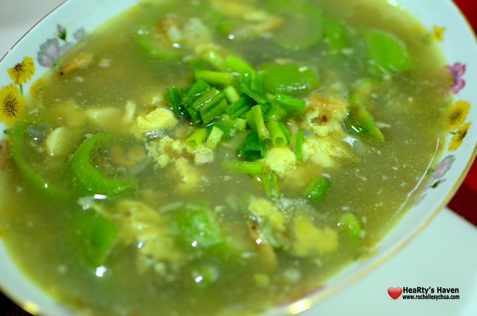 Patola Soup with Dried Fish