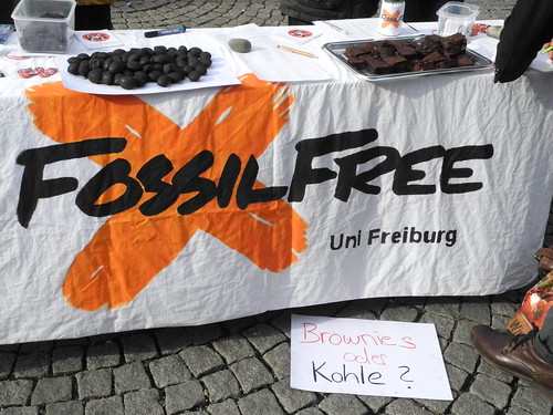 Global Divestment Day Freiburg, Germany_Brownies or Carbon