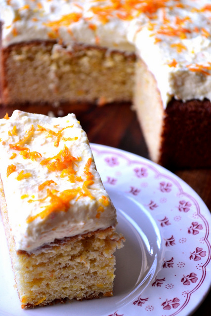 Orange Traybake Recipe