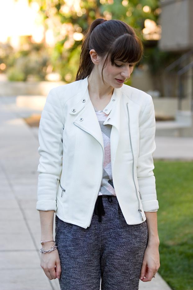 White Moto Jacket
