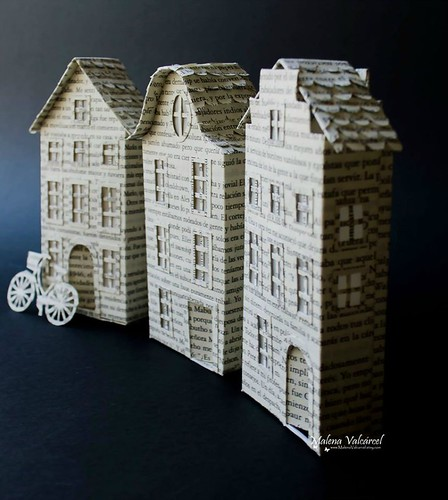 Altered Book Dutch Houses by Malena Valcárcel