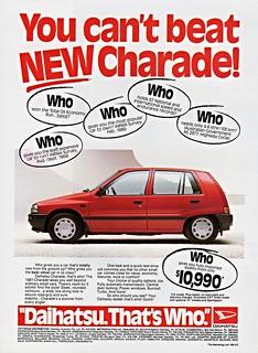 1987 Daihatsu Charade Ad (Australia)