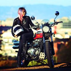 Triumph Scrambler motorcycle in San Francisco.