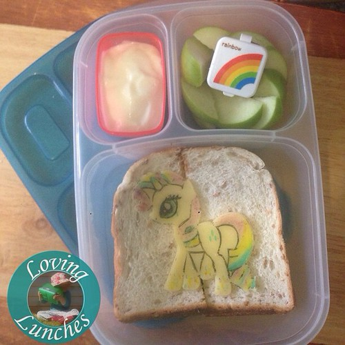Loving a rainbowed #Rarity for tomorrow's lunch… in our @easylunchboxes #easylunchboxes from @little_bento