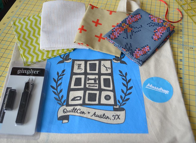 QuiltCon 2015 Massdrop swag bag