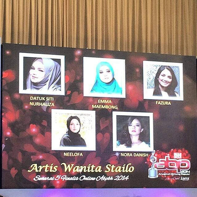 Wow @Ctdk Vs @Missfazura Pencalonan Top5 Artis Wanita Stailo #Abpbh2014