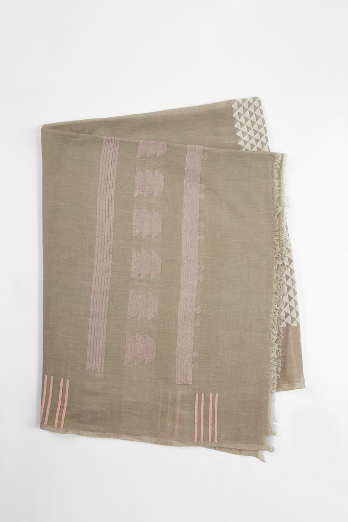 Tuva Olive Cotton Scarf