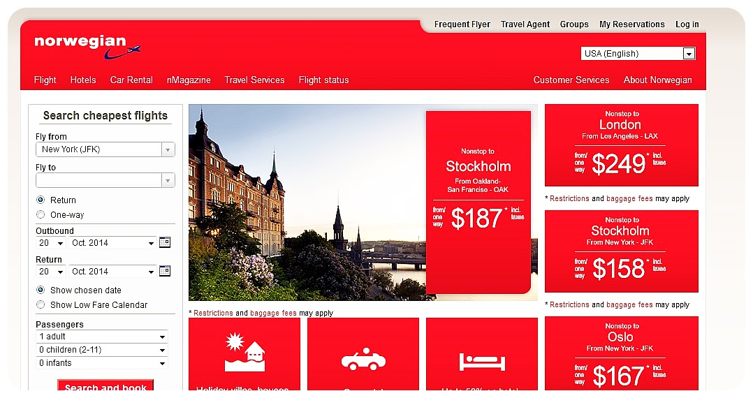norwegian airlines top deals