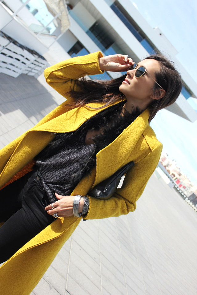 yellow coat fashion shoes coohuco 11