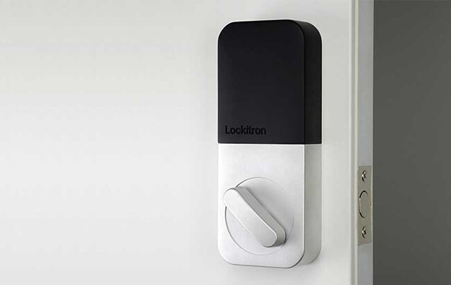Lockitron's smart bolt is part of its lineup of keyless home locking system devices