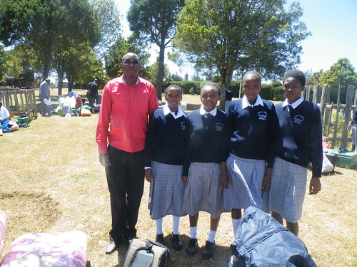 Teacher Joe with our Dry Girl School Pupils