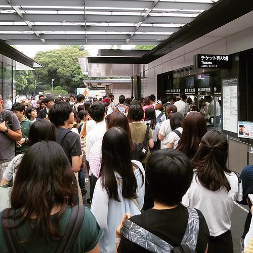 チケット買うまでが行列 #東京国立博物館