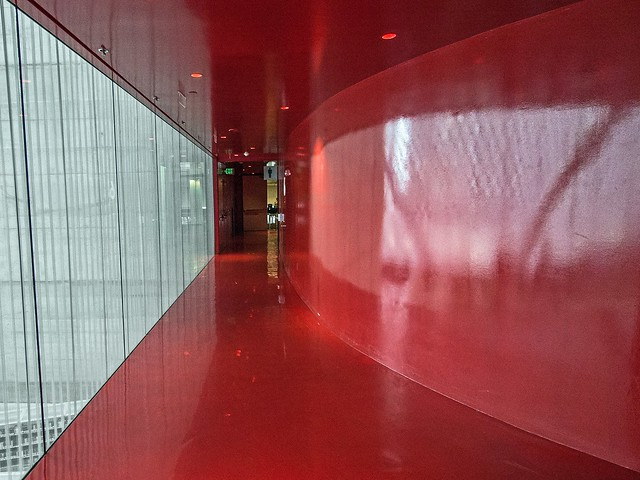 Redroom and glass