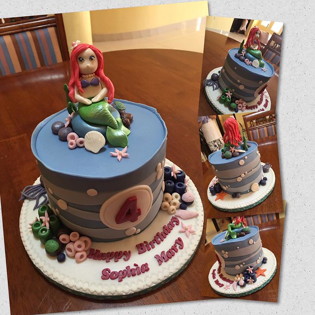 Mermaid Theme Cake by Jac Palma Pua of Not just Cakes by Jac
