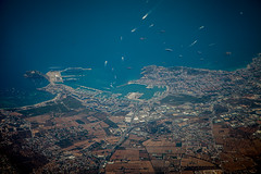 Ibiza from the air. Aerials!