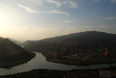 Overlooking confluence of Mtkvari and Aragvi rivers