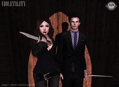 Violetility Angel + Demon Weapons