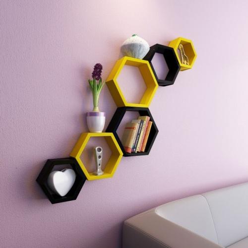 Hexagon Wall Racks