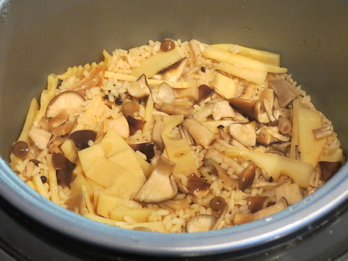 Cooking: Mushroom & Bamboo Shoot Rice with Pickles