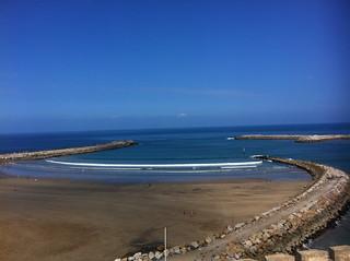 Plage de Rabat görüntü. ocean view morocco rabat