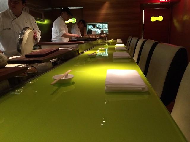 Sushi counter at Morimoto