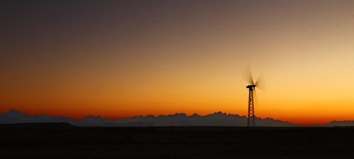 sunset energy sonnenuntergang desert windrad wüste efypt wernerboehm