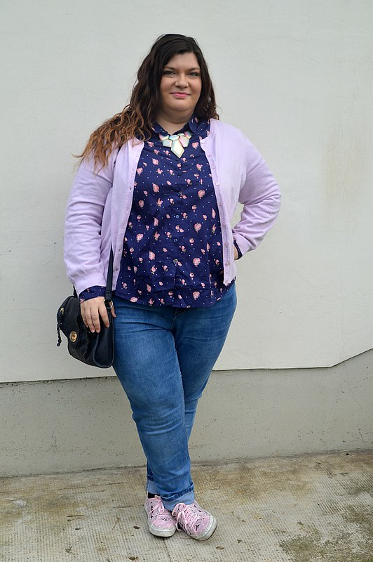 Outfit plus size blu e rose 2